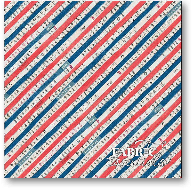 Windham - Wonder - 50519-2 - Bias Stripe - Navy-Red
