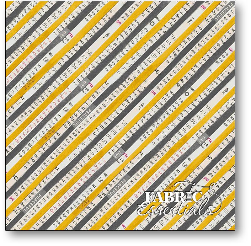 Windham - Wonder - 50519-5 - Bias Stripe - Charcoal - Mustard