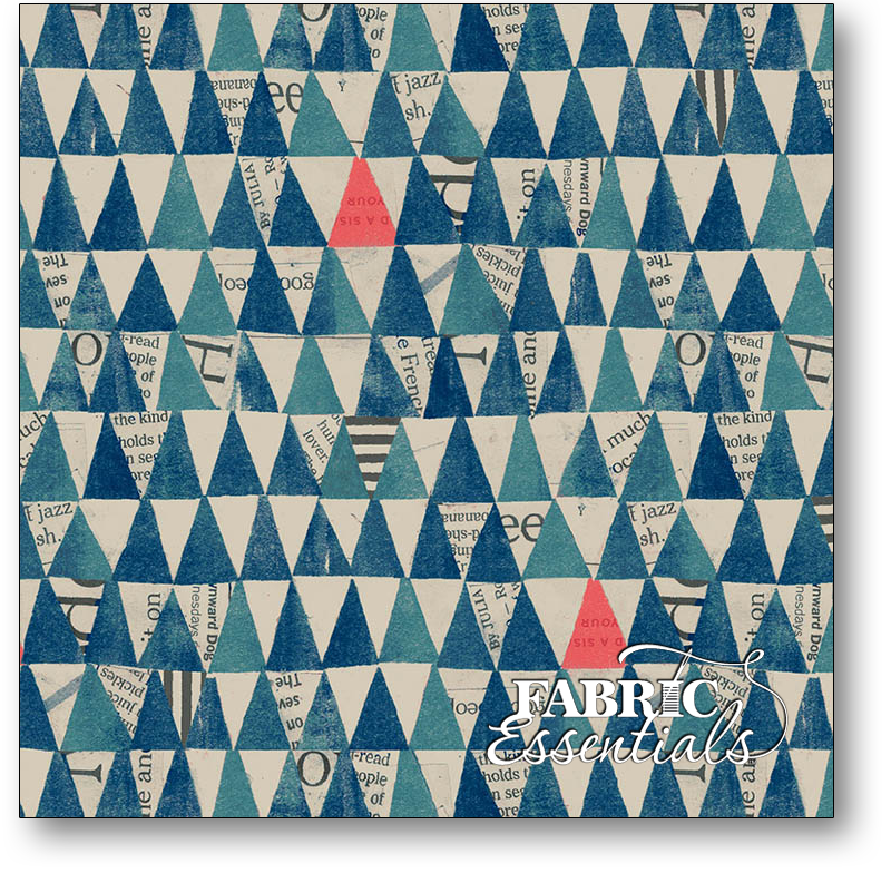 Windham - Wonder - 50521-2 - Stacked Triangles - Navy