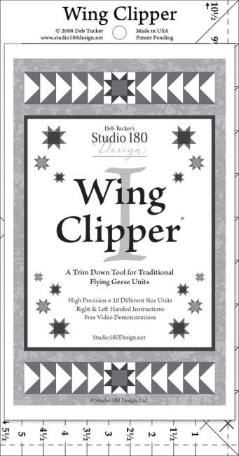 Studio 180 - Deb Tucker's Wing Clipper I Ruler (Make 4 Flying Geese at One Time!)