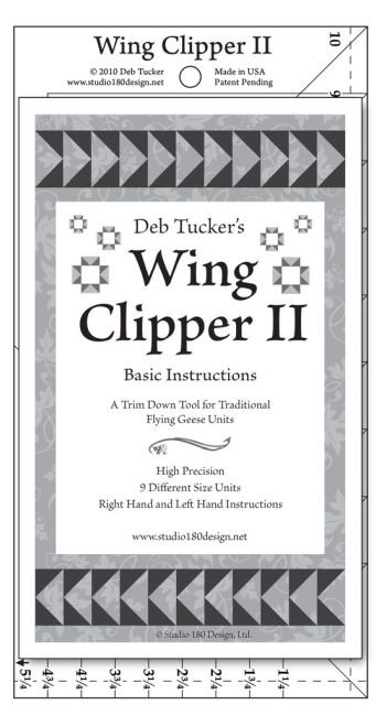 Studio 180 - Deb Tucker's Wing Clipper II Ruler (Make 4 Flying Geese at One Time!)
