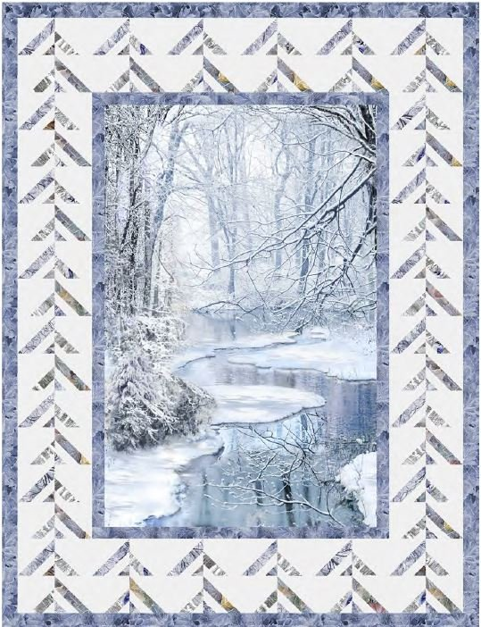 Winter Hike Wall Quilt ~ Two Options ~ PRE-ORDER FOR MID MAY DELIVERY!