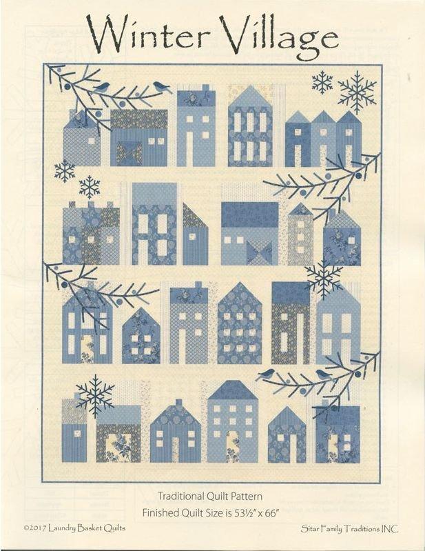 Blue Sky - Winter Village Pattern