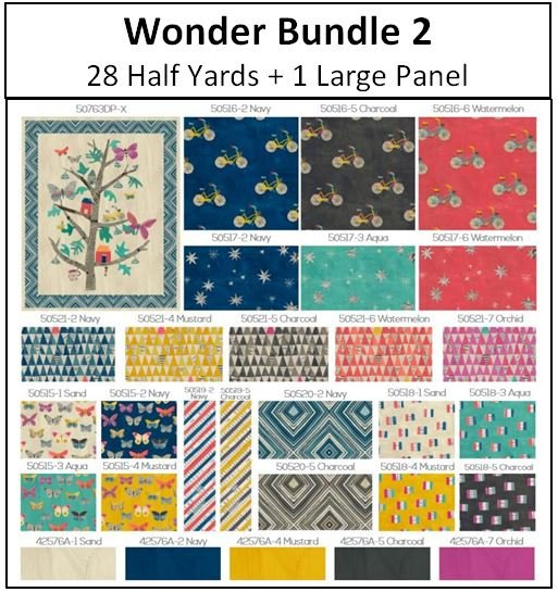 Windham - Wonder Bundle 2  - 28 Half Yards + 1 Large Panel - Call 785-243-4044 to Order!