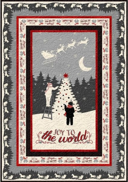 Holiday in the Woods - Wall Quilt with Mitered Corners - Two Options!