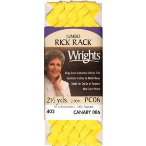 2.5-Yard Carrot Wrights 117-402-1241 Polyester Rick Rack Trim Jumbo