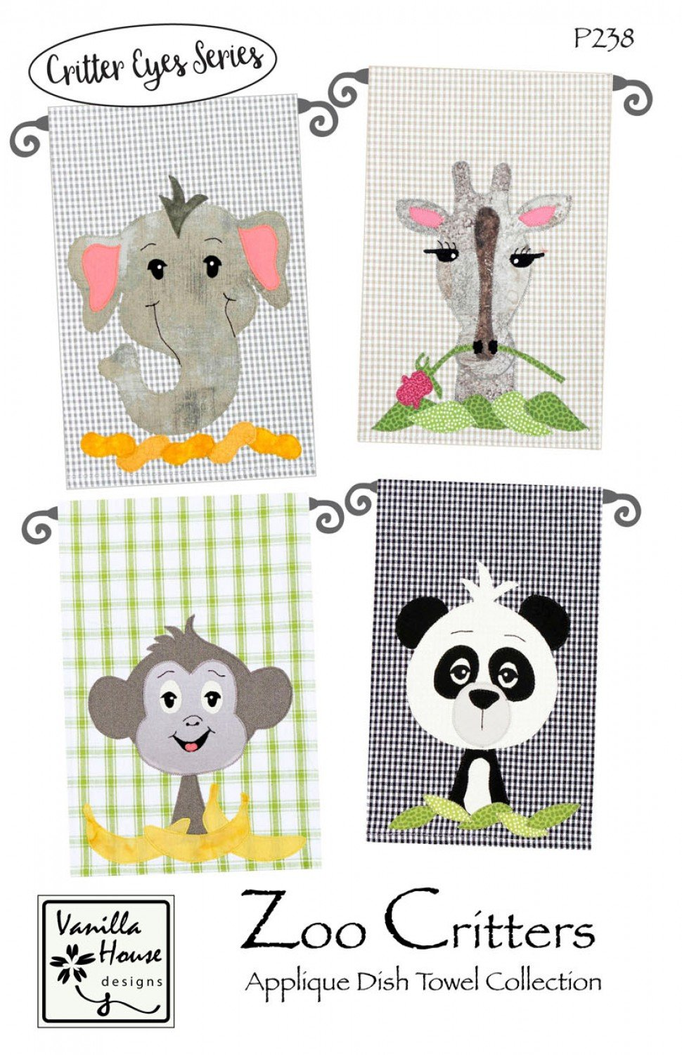 Zoo Critters - Applique Dish Towel Collection - VHD238