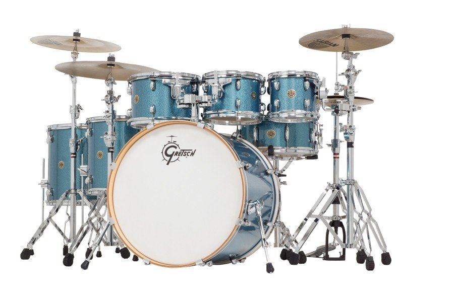 Gretsch Catalina Maple 7pc Shell Pack in Aqua Sparkle