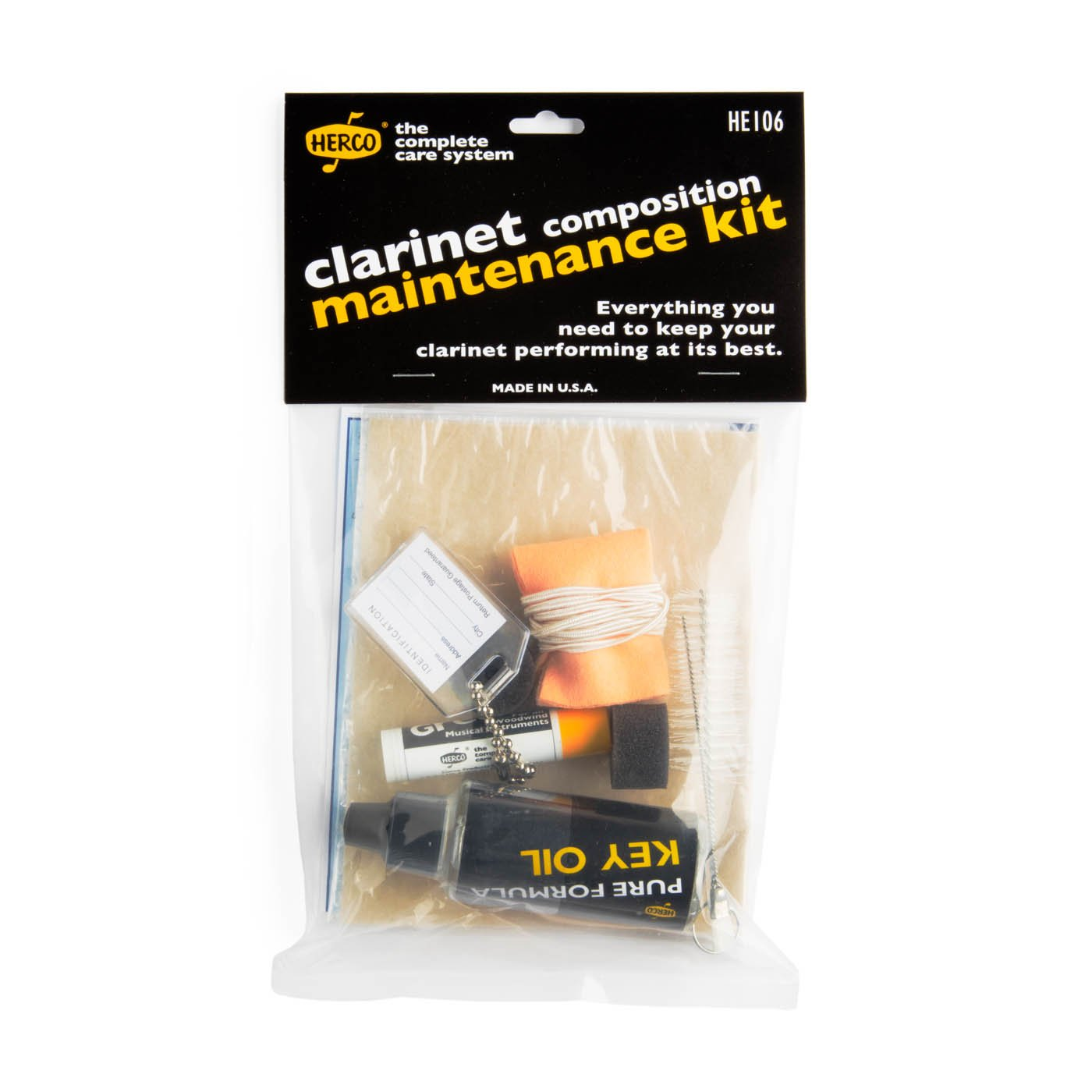 Herco Complete Care Clarinet Maintenance Kit