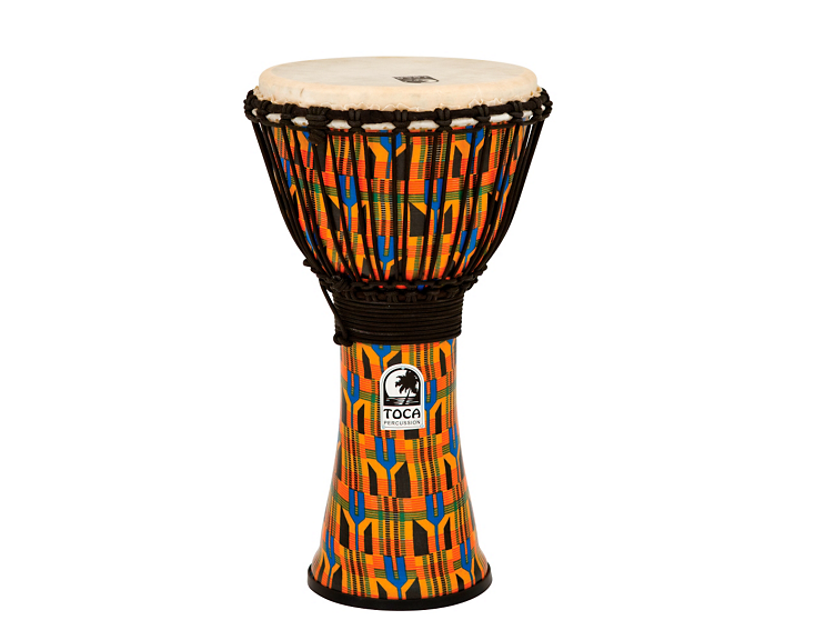 Toca 10 Freestyle Rope Tuneable Djembe (Kente Cloth)