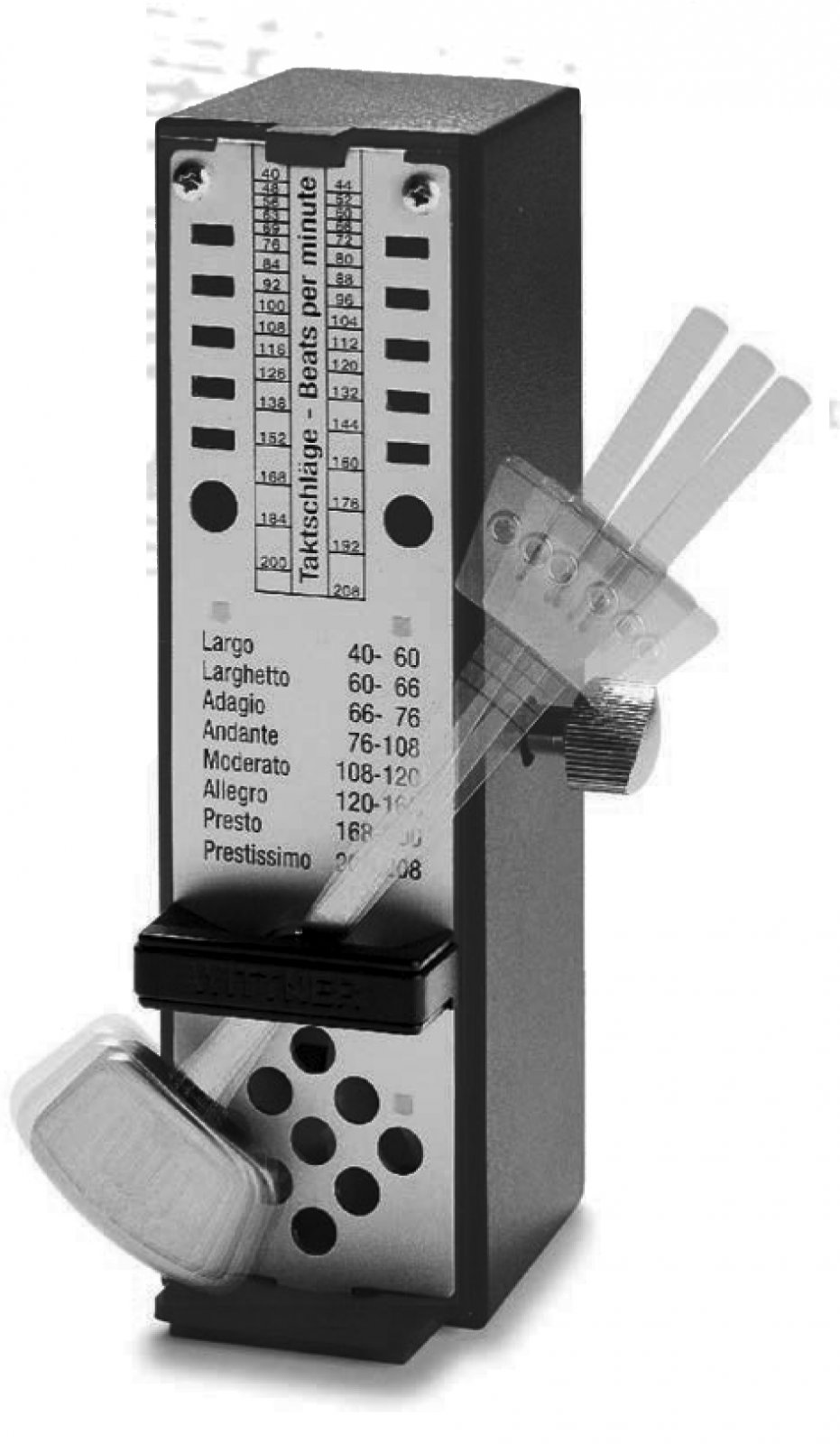 Wittner 886 Taktell Super Mini - Mini Plastic Metronome Black