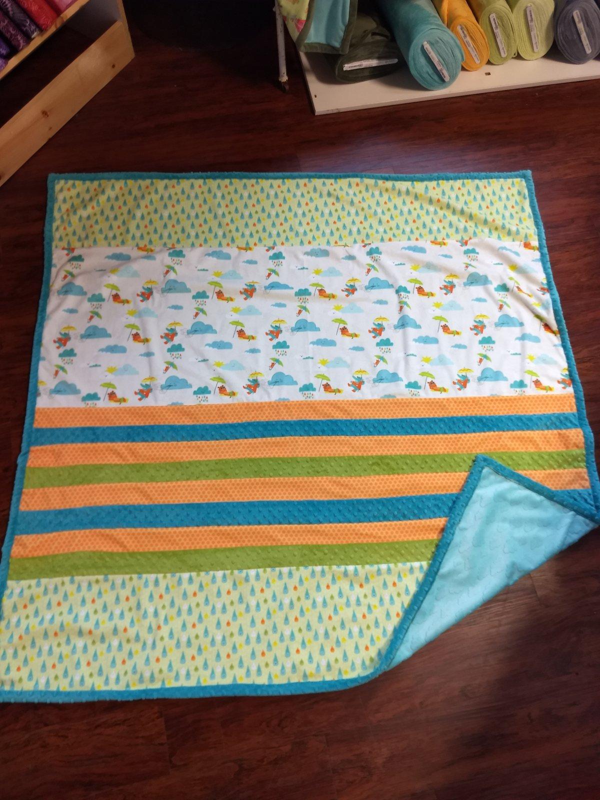 Rainy Days Minky Quilt Kit