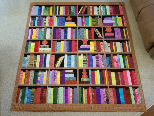 Fabric at Work Bookcase Quilt