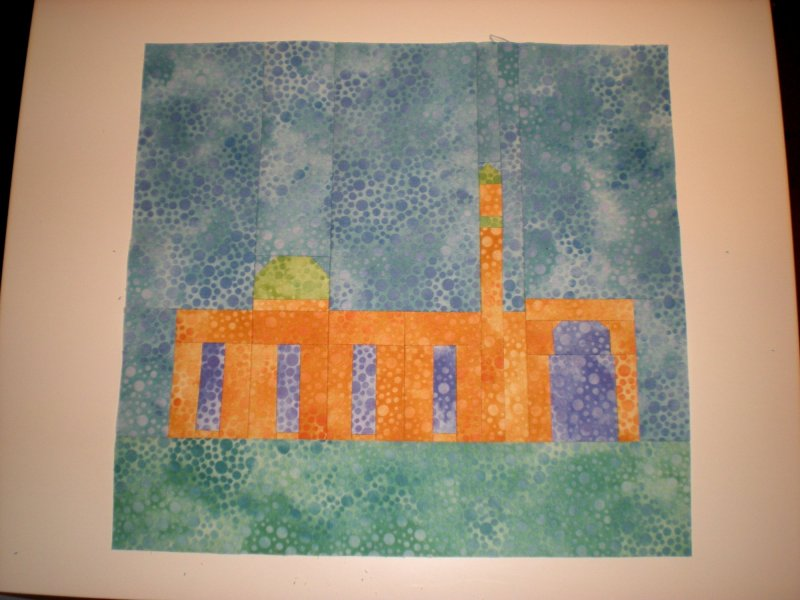 Fabric at Work Quebec Mosque Quilt Block
