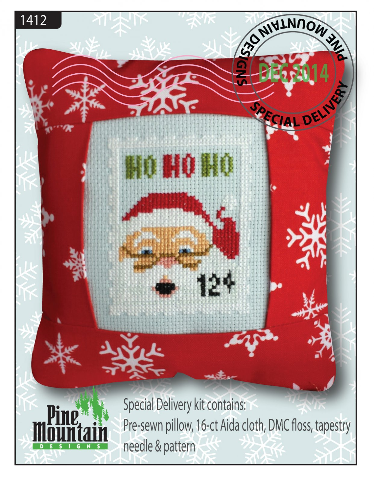 December Stamp Special Delivery pillow kit #1412