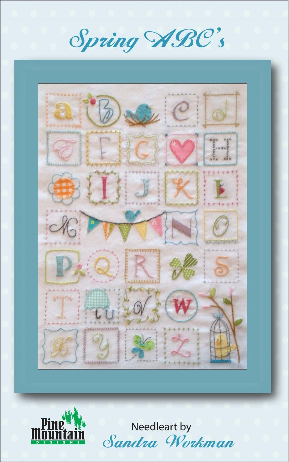 Spring ABC Embroidery Sampler  294