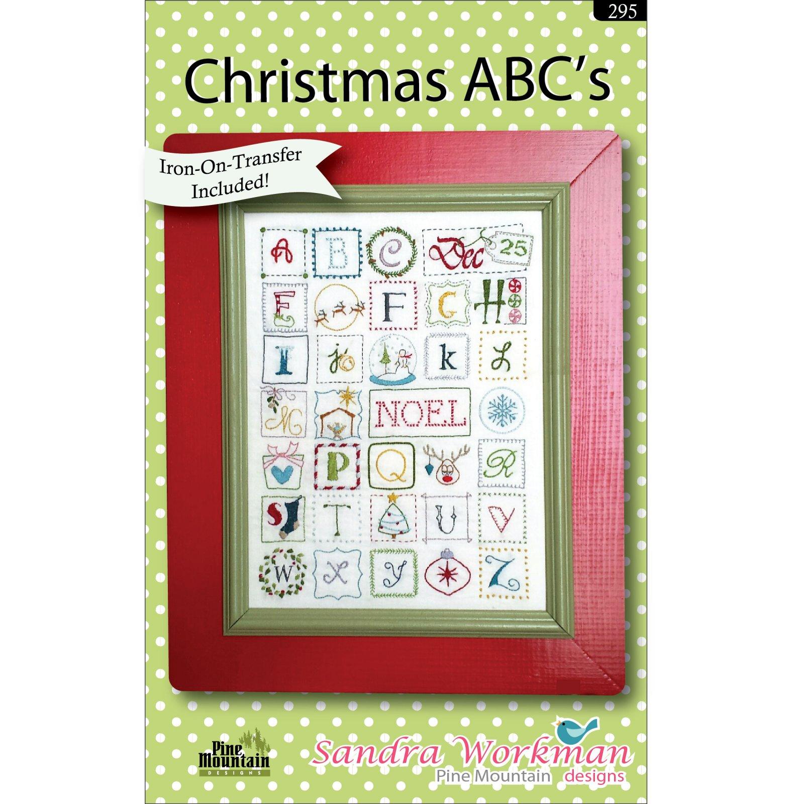 Christmas ABC Embroidery Sampler  295