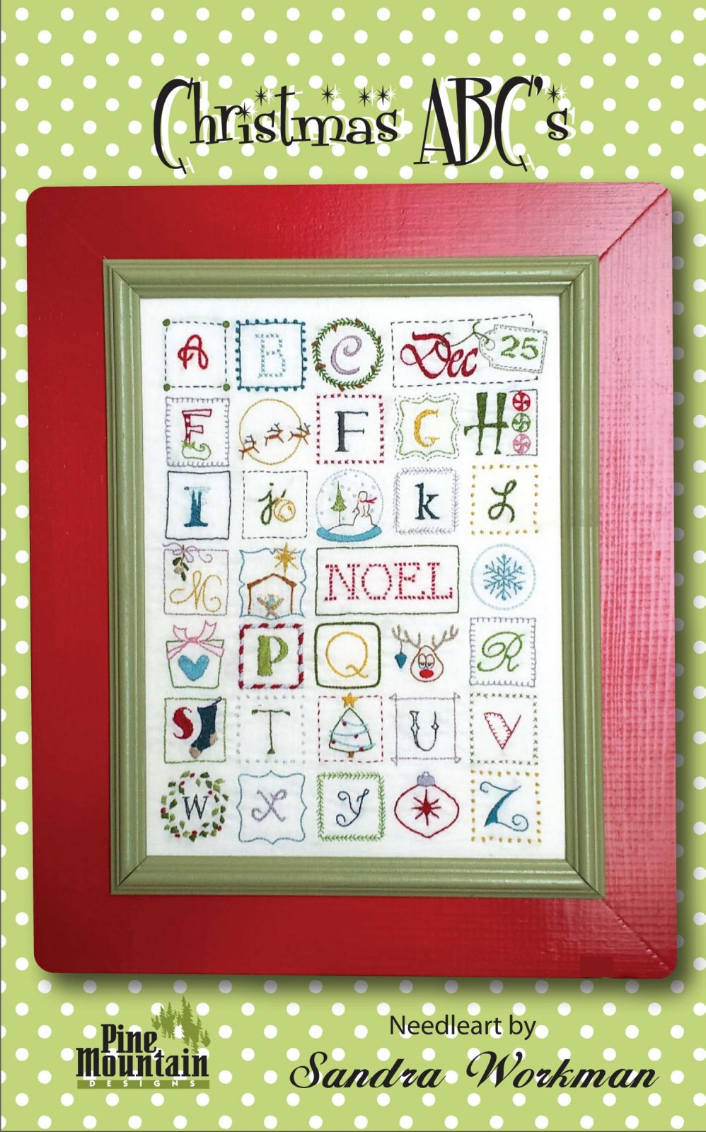 Christmas ABC Embroidery Sampler  295