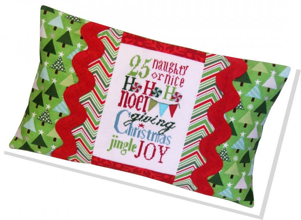Jingle Typography pillow kit #470