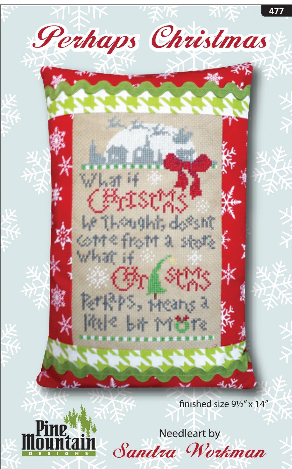 Perhaps Christmas pillow kit #477