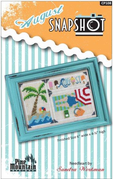 August Snapshot Digital Download cross stitch pattern cp108d