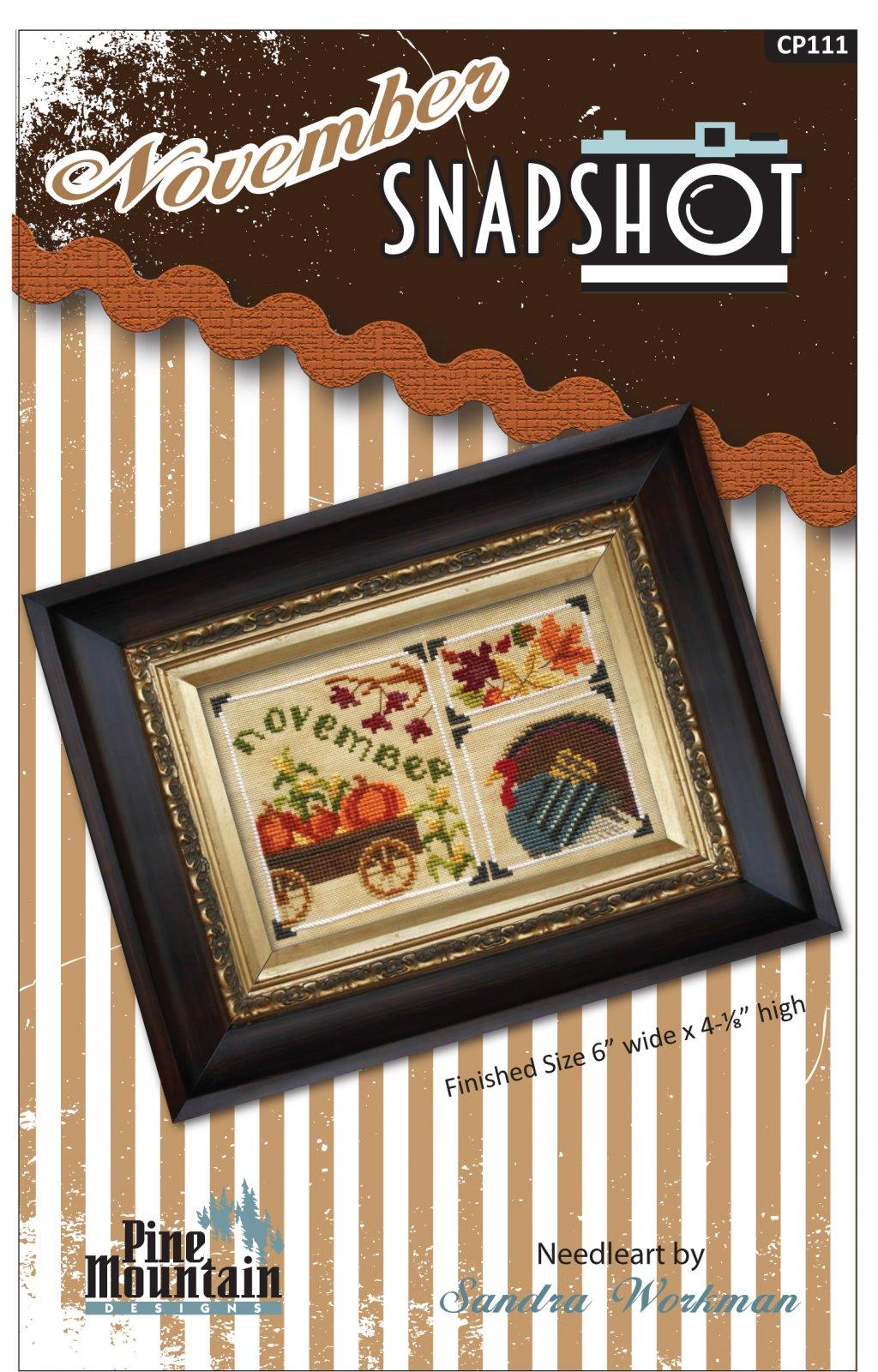 November Snapshot cross stitch pattern CP111