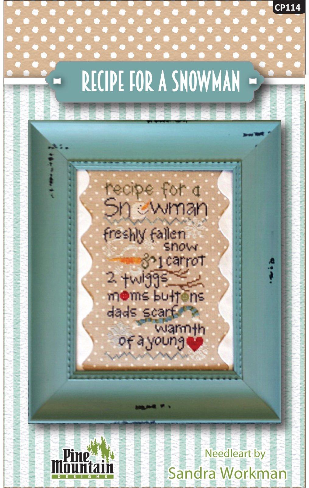 Recipe for a Snowman Cross Stitch Pattern cp114