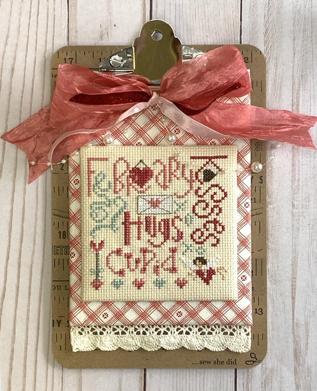 February Typography cross stitch pattern