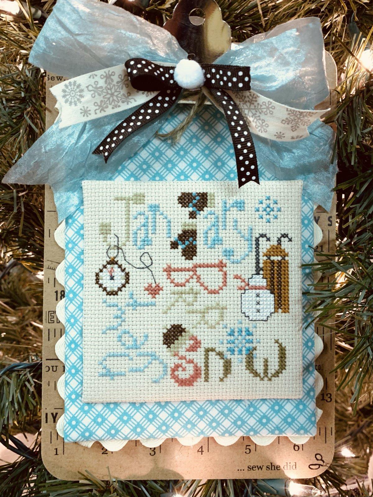 January Typography cross stitch pattern