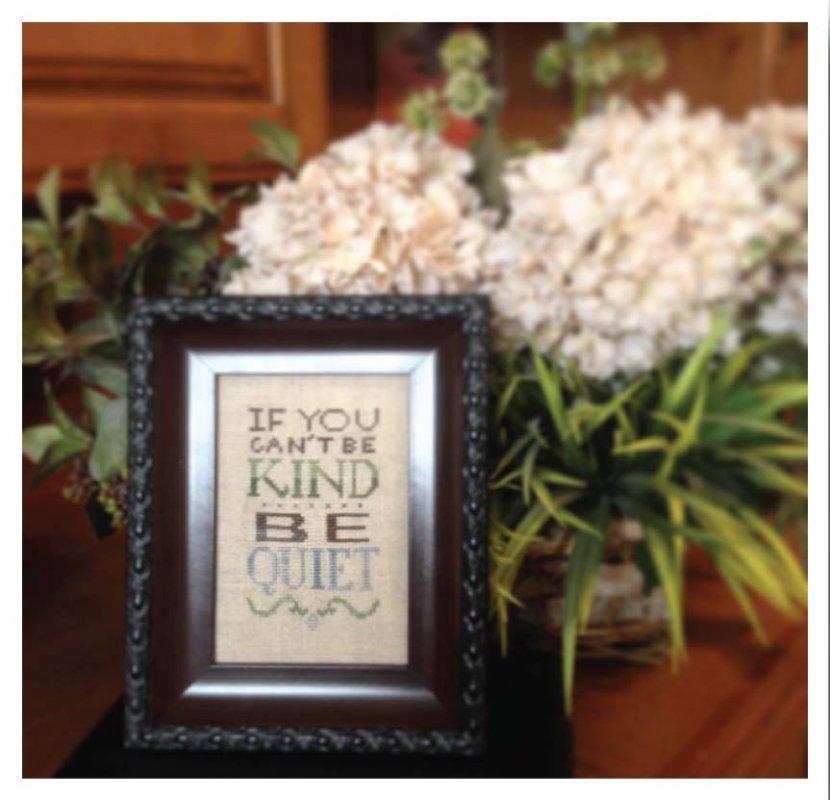 Be Kind - Words of Wisdom Pattern Lk12