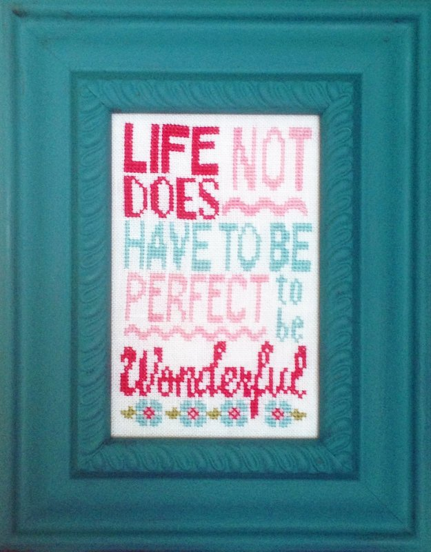Wonderful Life  - Words of Wisdom cross stitch pattern  LK14