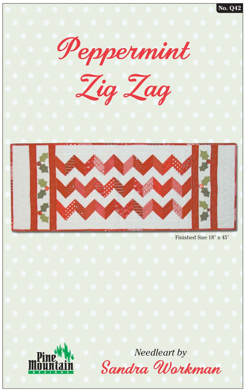 Q42 Peppermint Zig Zag Table Runner