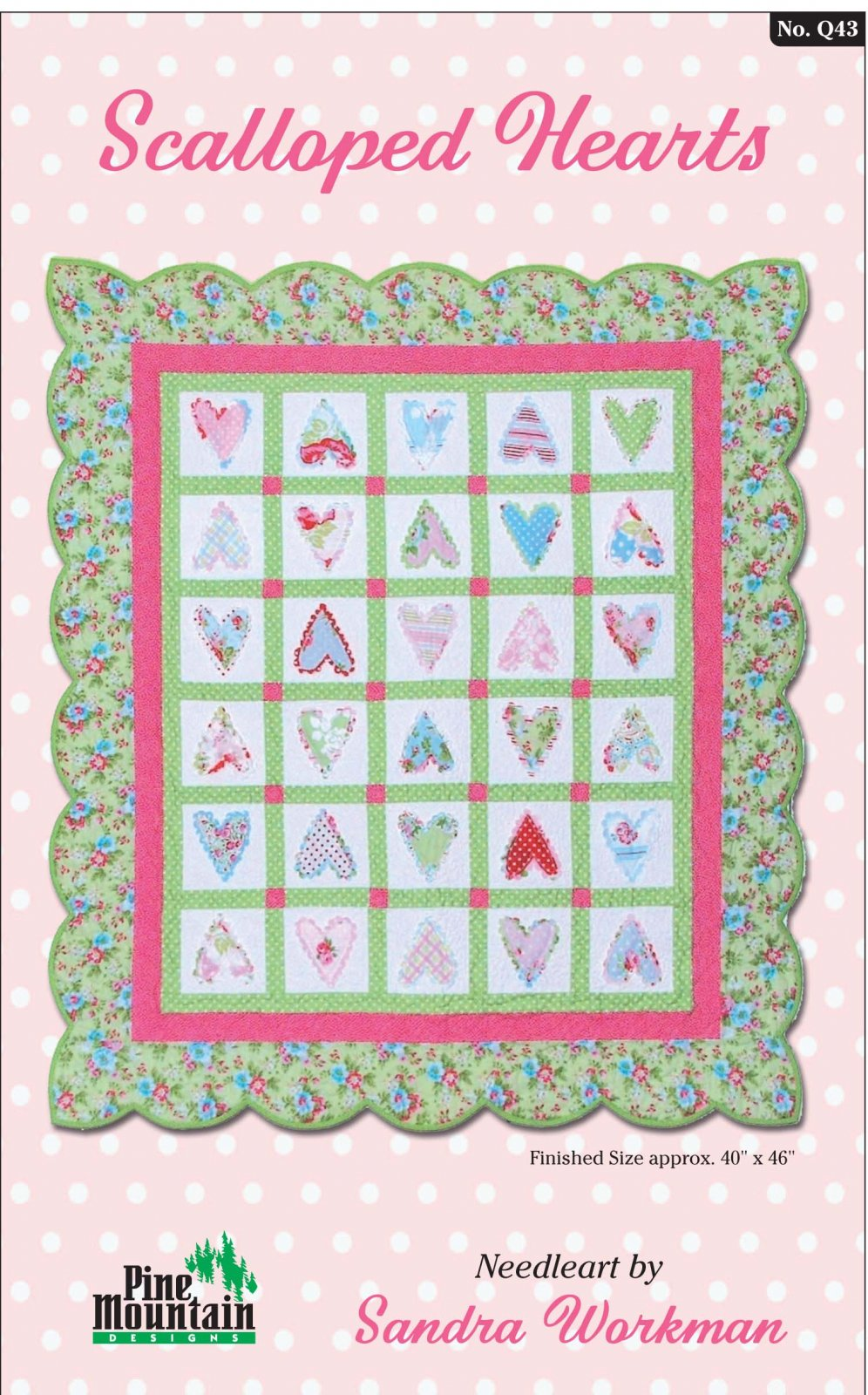 Q43 Scalloped Hearts quilt