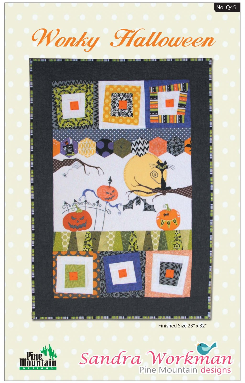 Q45 Wonky Halloween Wall Quilt