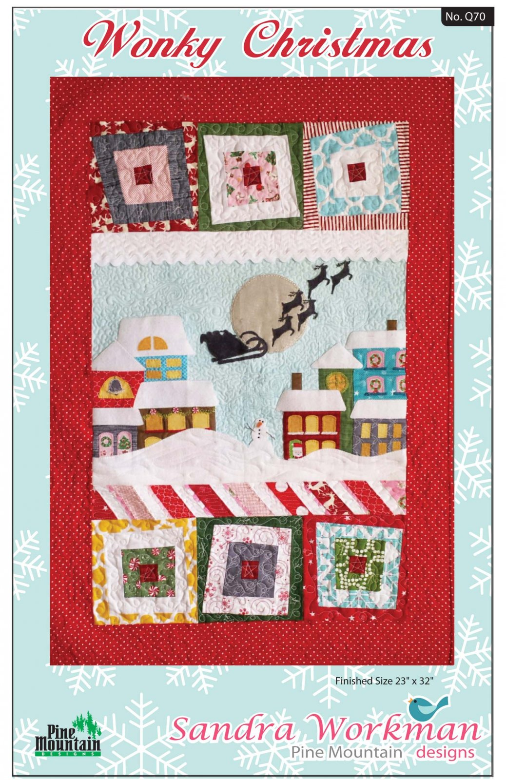Q70 Wonky Christmas quilt pattern