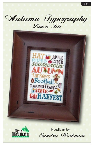 Autumn Typography Linen Kit LK09