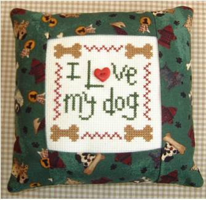 I Love my Dog pillow kit 123