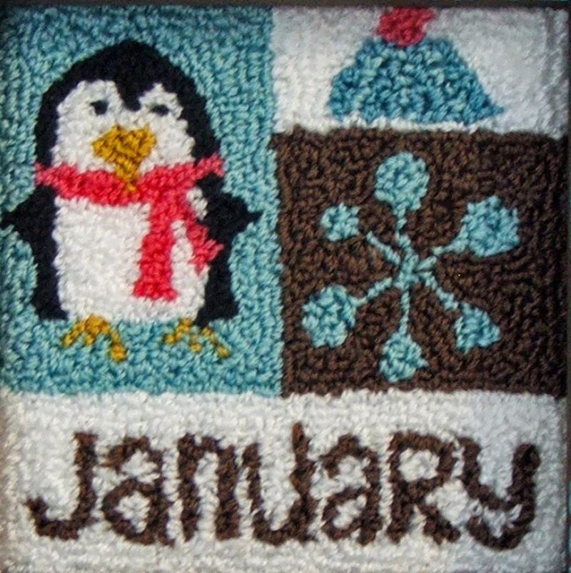 January Block Punch Needle Kit
