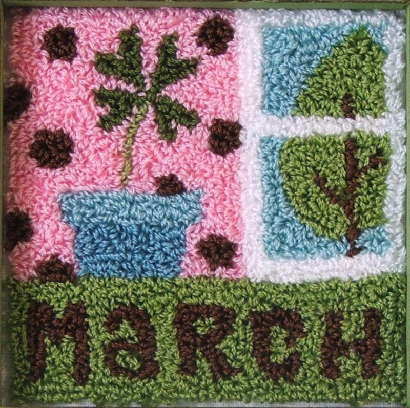 March Punch Needle Block Kit