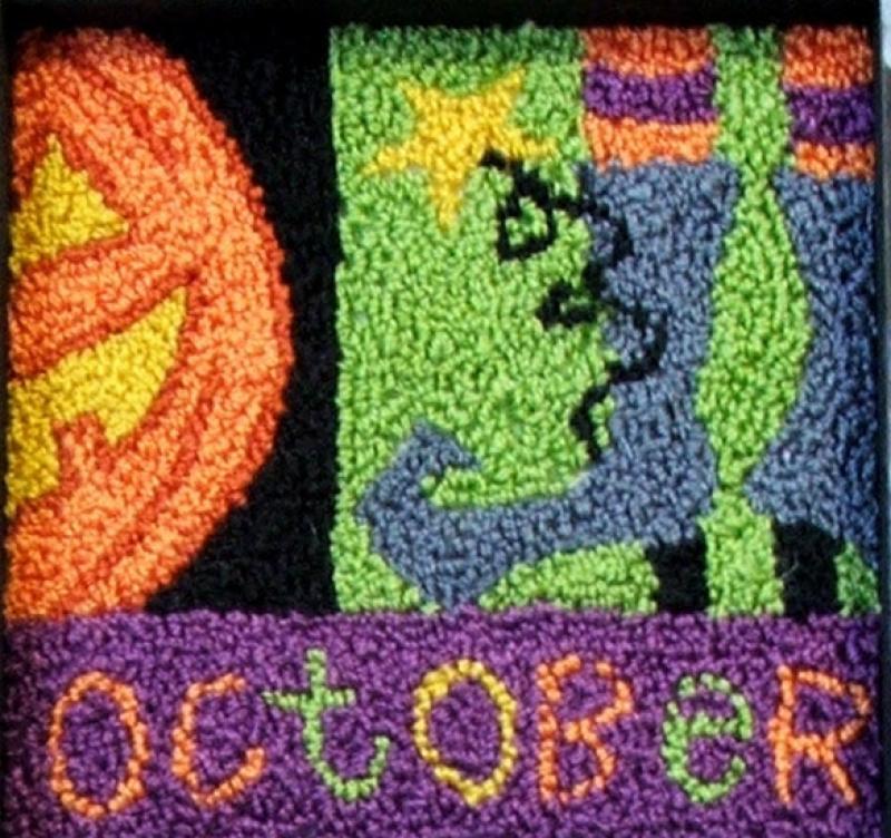 October Blocks Punch Needle Kit