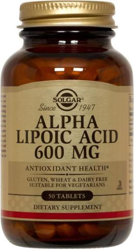 Alpha Lipoic Acid 600mg (50 Tablets)