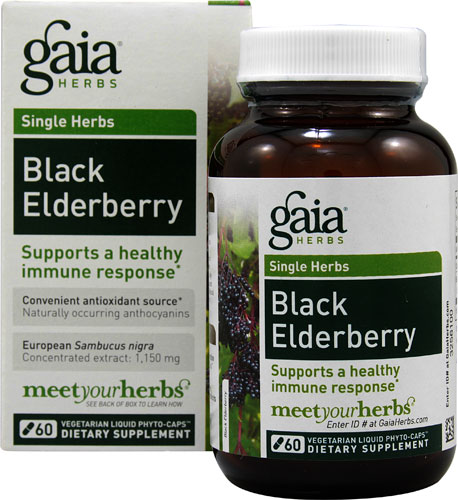 Black Elderberry (60 Vegi Liquid Phyto-Caps)