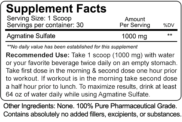 Agmatine Sulfate (30 Grams) - 456352932986