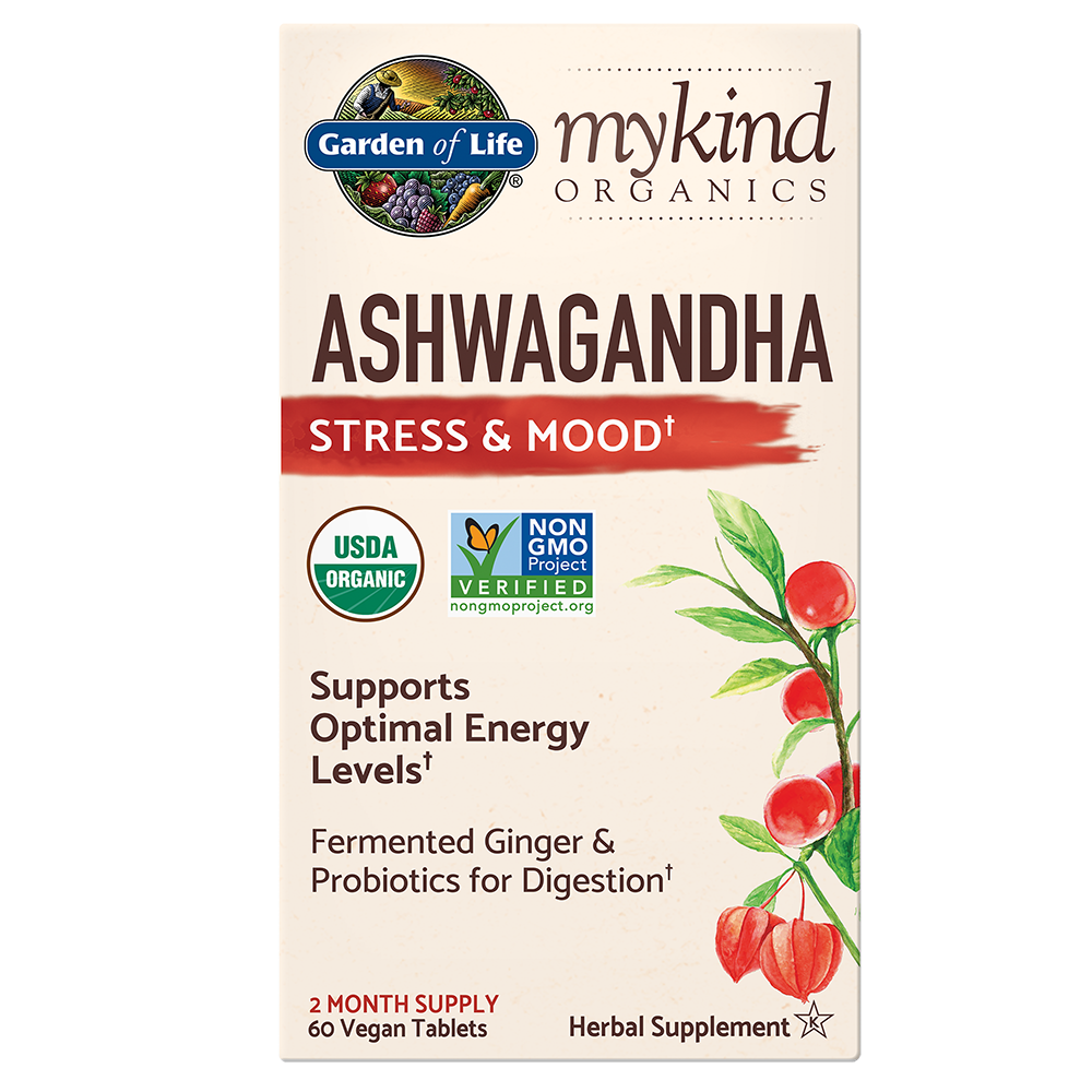 mykind Organics Ashwagandha (60 Vegan Tabs)