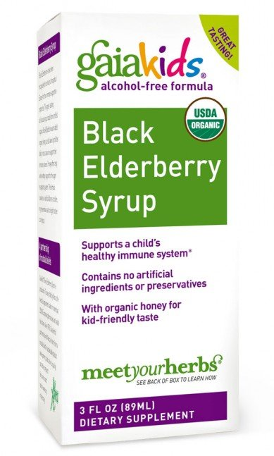 GaiaKids Black Elderberry Syrup (3 fl oz)