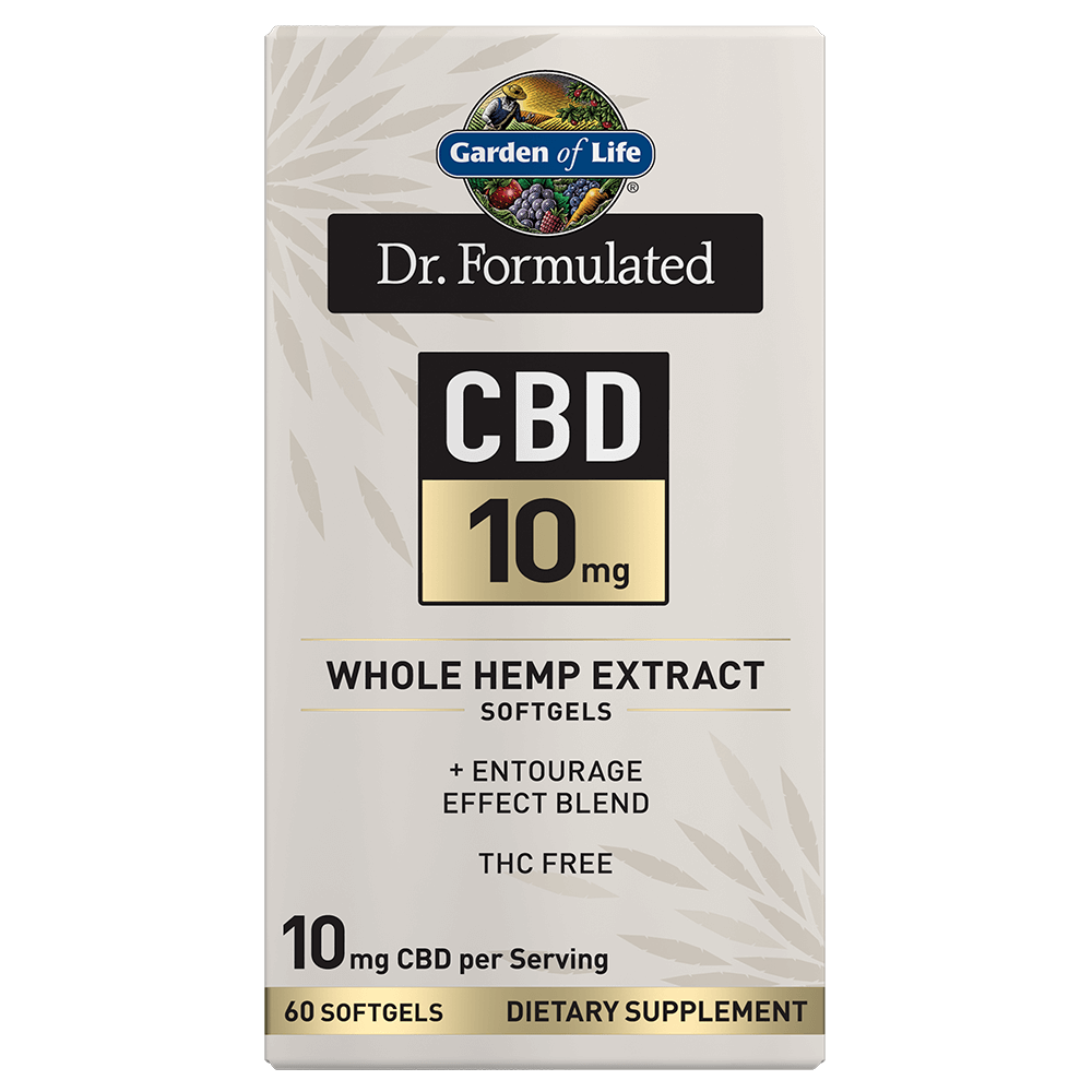 Dr. Formulated CBD 10mg Whole Hemp Extract 60 Softgels