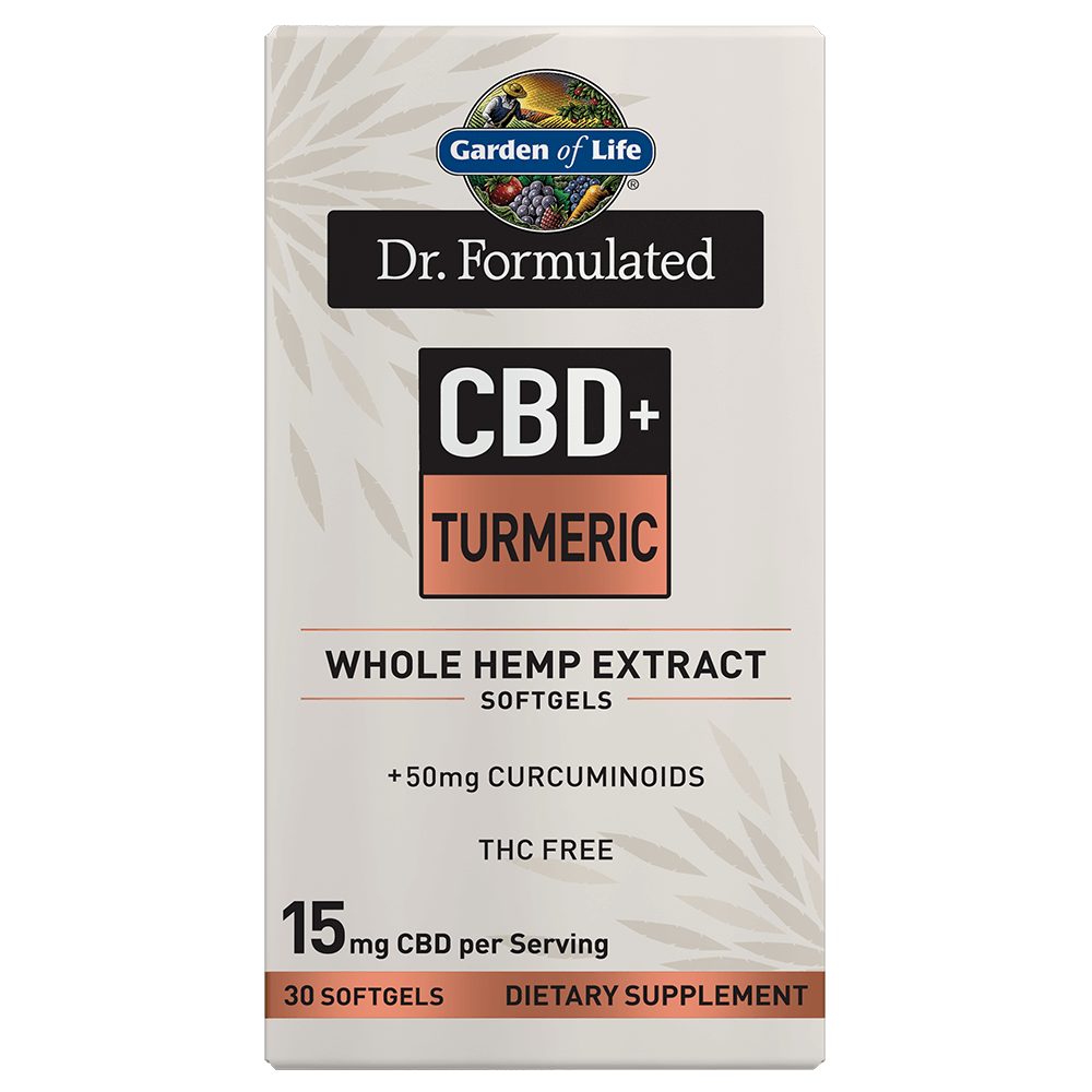 Dr. Formulated CBD+ Turmeric 30 Softgels