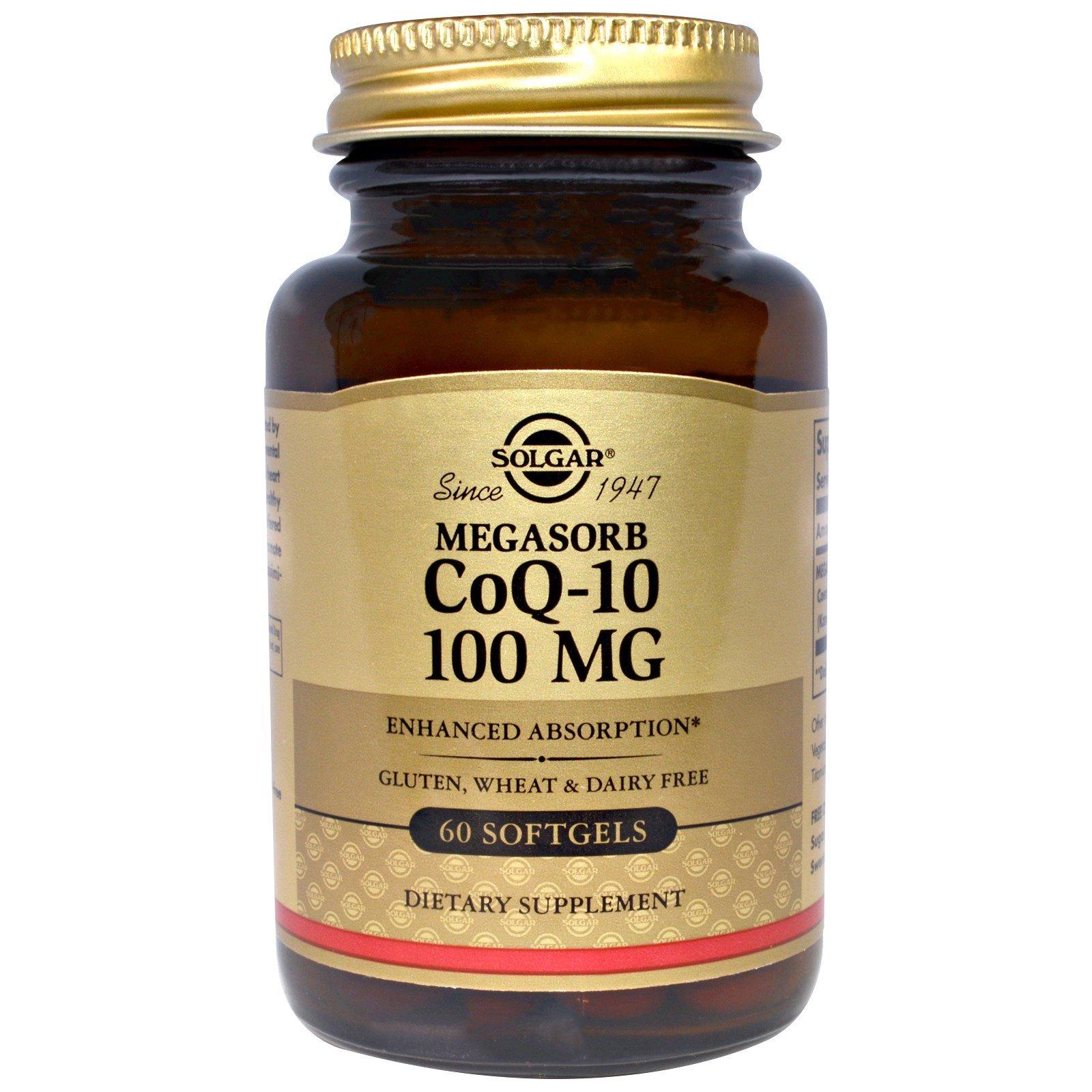Megasorb CoQ-10 100 mg Softgels