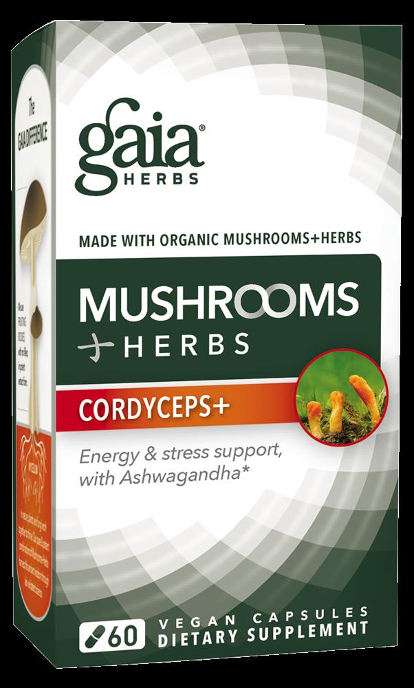 Mushrooms+Herbs Cordyceps+ (60 Vegan Caps)
