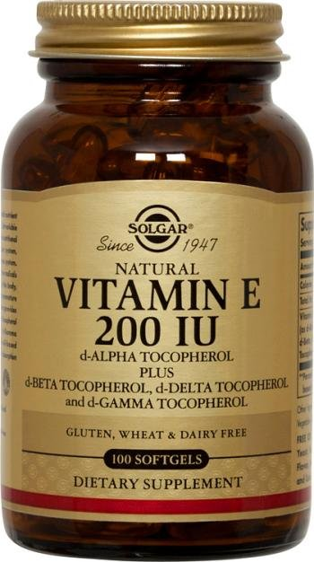 Vitamin E 200 IU (d-Alpha & Mixed Tocopherols) 100 Softgels